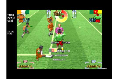 Taito Power Goal / arcade attract mode auto demo / soccer ...