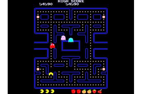 PAC MAN PUCKMAN ARCADE FAST APPLE PATTERN NAMCO CLASSIC ...