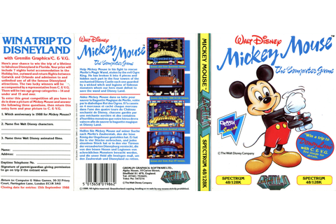 Mickey Mouse – The Computer Game (C64) – The Gremlin ...