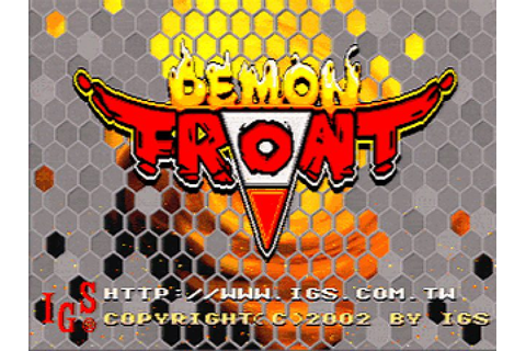 Demon Front (2002) by I.G.S. Arcade game