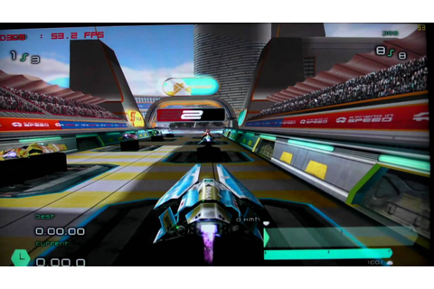 PCSX2 PS2 Emulator running Wipeout Pulse on a Q9550 and an ...