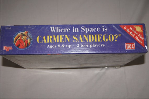 Vintage 1990's Where in space is Carmen Sandiego Board