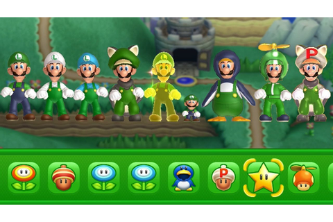 New Super Luigi U - All Power-Ups - YouTube