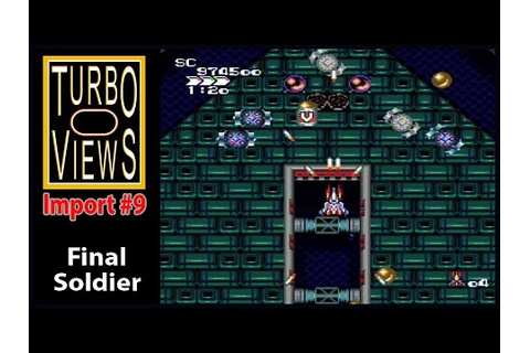 """Final Soldier"" - Turbo Views Import #9 (PC-Engine / Wii ..."