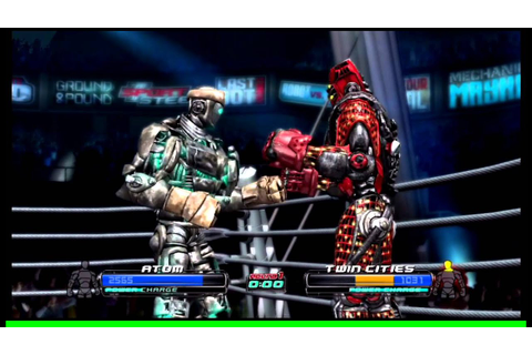 Real Steel The Video Game Atom Vs Twin Cities - YouTube
