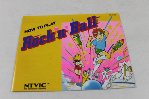 Manual - Rock N Ball - Nes Nintendo
