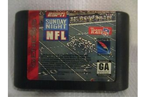 ESPN SUNDAY NIGHT NFL FOOTBALL (1994 SEGA Genesis Video ...