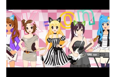 K-On Dress Up: outfit for the band dress up game - YouTube