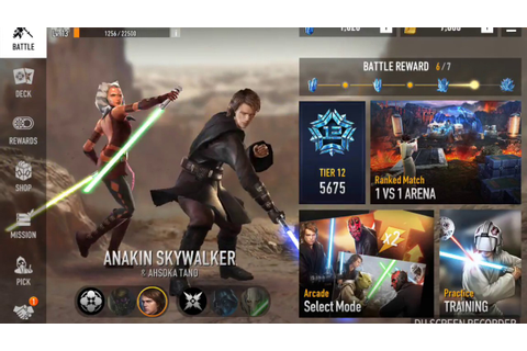 Star Wars: Force Arena - Anakin Skywalker & Ahsoka Tano ...