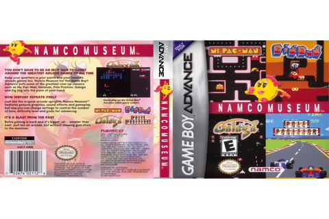 Nathan DiYorio's Blog: Namco Museum (GBA) DS Insert
