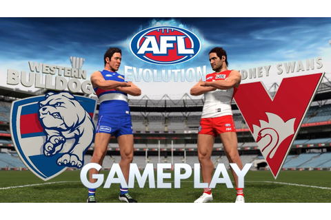 AFL EVOLUTION | GAMEPLAY | MY FIRST GAME! | BULLDOGS VS ...