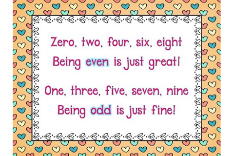 17 Best images about odd and even numbers on Pinterest