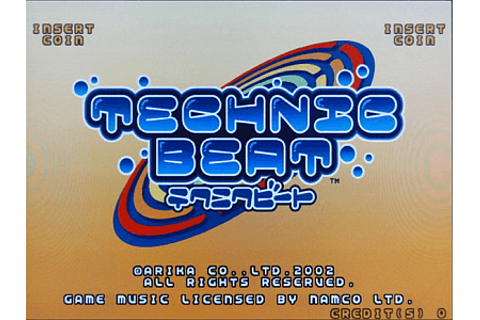Technic Beat arcade video game by Arika(2002)