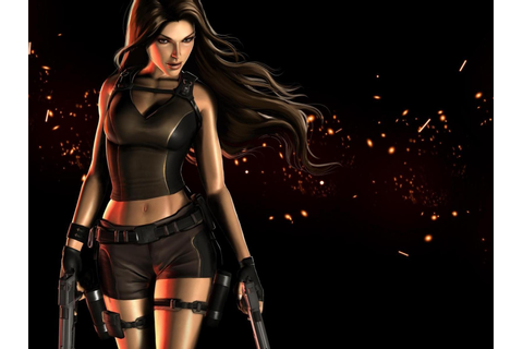 Poster with Lara Croft in Tomb Raider Game Wallpaper ...