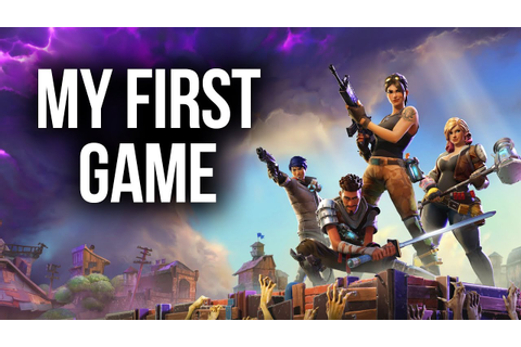 Fortnite - MY FIRST GAME - THIS GAME IS SO MUCH FUN ...