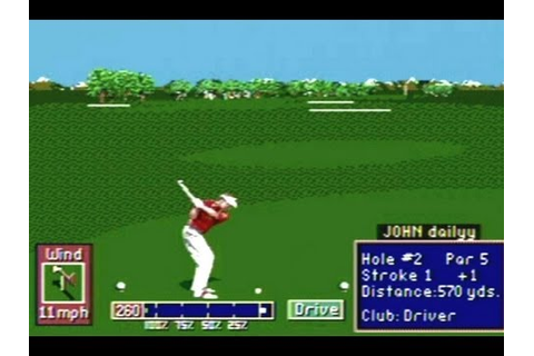 CGRundertow PGA TOUR GOLF II for Sega Genesis Video Game ...