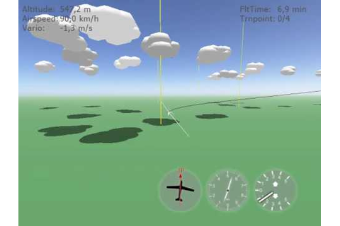 Glider Game - arcade soaring simulator - YouTube