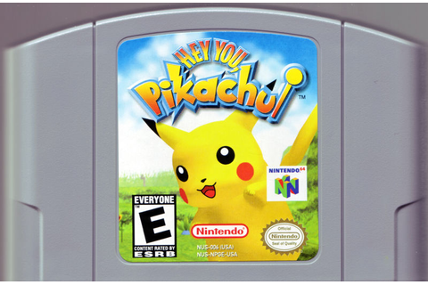 Hey You, Pikachu! (1998) Nintendo 64 box cover art - MobyGames