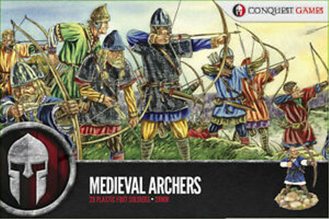 28MM MEDIEVAL ARCHERS - CONQUEST GAMES - DARK AGE - VIKING ...