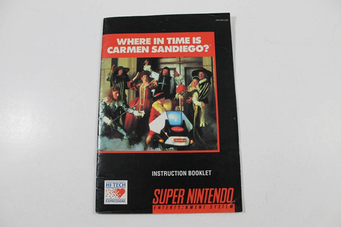 Manual - Where In Time Is Carmen Sandiego (Snes)