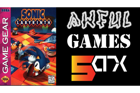 AWFUL GAME: Sonic Labyrinth (Sega Game Gear) (Anniversary ...