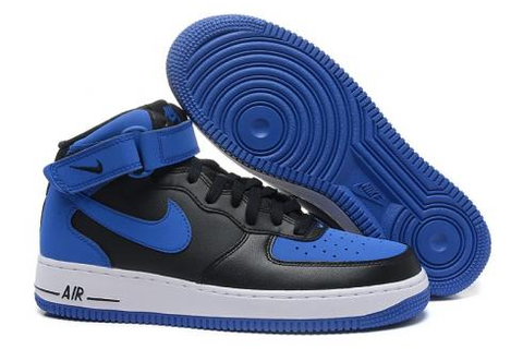 Nike Air Force 1 Mid Triple Binary Blue White 315123-410 ...