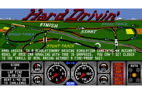 Hard Drivin' (1990, Sega Mega Drive) - GameTripper review