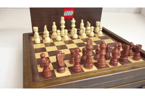 LEGO Wooden Chess and Game Set - Employee Gift - YouTube