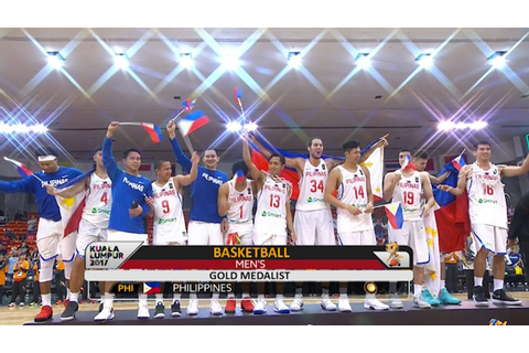 Basketball Men's Awarding | SEA Games 2017 - YouTube