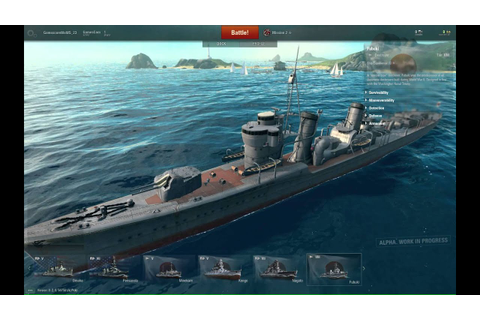 World of Warships - Early Alpha Footage - YouTube