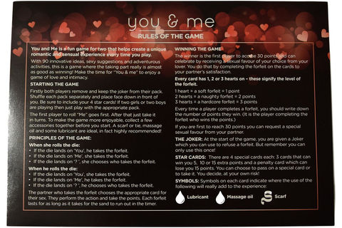 You & Me - A Game of Love & Intimacy Couple's Adult Game ...