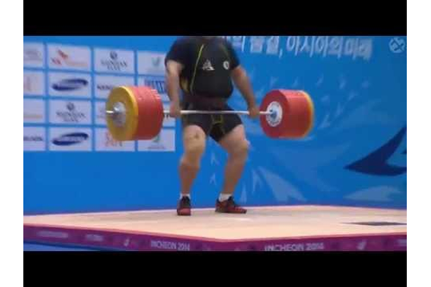 Behdad Salimi 255kg Clean and Jerk @ Asian Games - YouTube