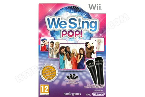We Sing Pop + 2 micros Wii Pas Cher Neuf