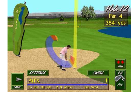 PGA Tour 486 (1994) PC Playthrough at Summerlin ...