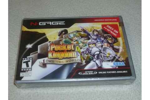 NEW SEALED NGAGE VIDEO GAME POCKET KINGDOM OWN THE WORLD ...