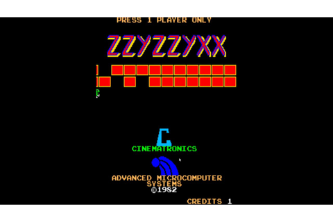 Zzyzzyxx (1982) - Arcade Games - MAME - YouTube