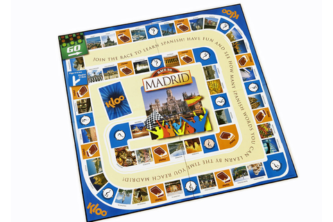 KLOO Games - Learn Spanish Board Game: Race to Madrid
