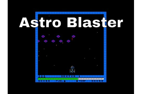 Astro Blaster arcade game - YouTube