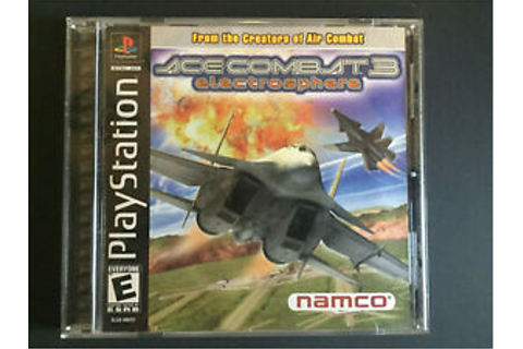 Ace Combat 3 Electrosphere Playstation PS1 Game Complete ...