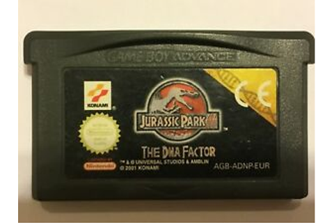 Jurassic Park III: The DNA Factor (Nintendo Game Boy ...