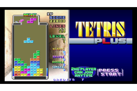 Tetris Plus [Classic Mode] - MAME - 215,900 - YouTube