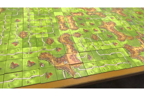The Finished Game of World Record in Carcassonne - YouTube