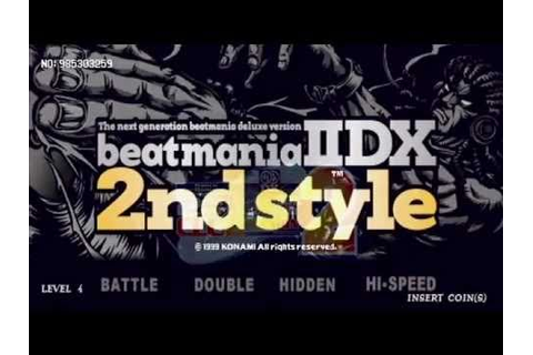 beatmania IIDX 2nd style CLUB VERSION2 Attract Demo - YouTube