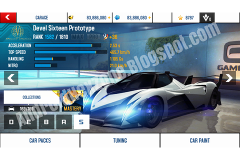 Asphalt 8 Airborne 2.7.1a Android Hacked Save Game Files ...