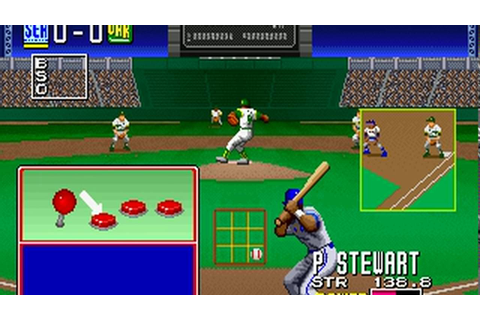 Clutch Hitter (Sega 1991) Attract Mode 60fps - YouTube