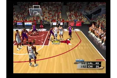nba2k2 ps2 the old 96 bulls vs lakers blowout game - YouTube