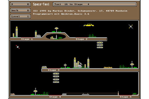 Atari ST Space Taxi [Falcon030] : scans, dump, download ...