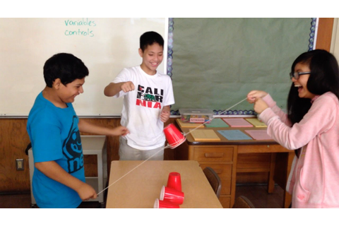Cup Stacking Team Building Activity - YouTube