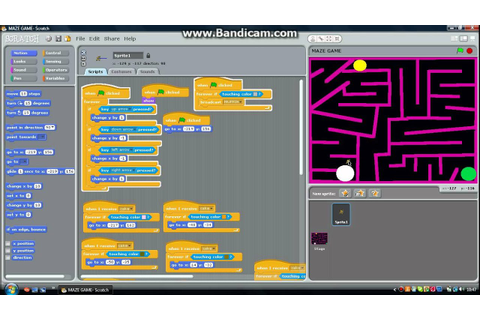 MAZE GAME on scratch - YouTube