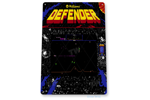 "TIN SIGN ""Defender Arcade"" Shop Game Room Art Marquee ..."